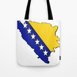 Bosnia and Herzegovina Map with Flag Tote Bag