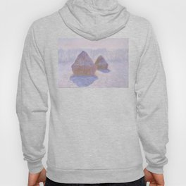 Haystacks, Effect of Snow and Sun by Claude Monet Hoody