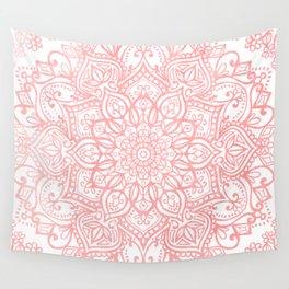 Light Pink Mandala Wall Tapestry