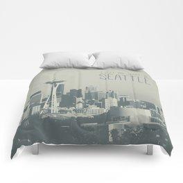 I LEFT MY HEART IN SEATTLE Comforters