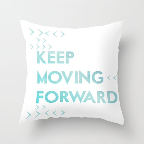 Throw Pillows With Quotes On Them : keep moving forward.. meet the robinsons disney movie quote Throw Pillow by Studiomarshallarts ...