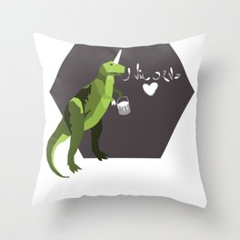 go home t-rex, you're drunk. Throw Pillow