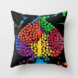 Bodhi Tree0209 Throw Pillow
