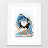 iwatobi Framed Art Prints featuring Free! Iwatobi Swim Club Haruka by Mistiqarts