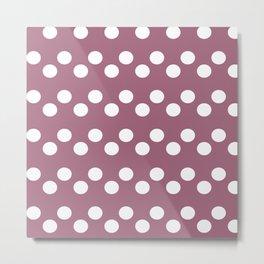 PINK TOURMALINE Polka Dots Metal Print