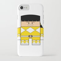 power rangers iPhone & iPod Cases featuring Mighty Morphin Power Rangers - The Original Yellow Ranger Unmasked (Trini) by Choo Koon Designs