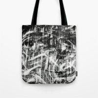 destiny Tote Bags featuring Destiny  by Irène Sneddon