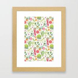 Spring Harvest Pattern Framed Art Print