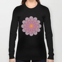 Zinnia Mandala bright Long Sleeve T-shirt