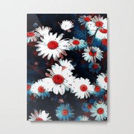 Abstract Daisies Metal Print