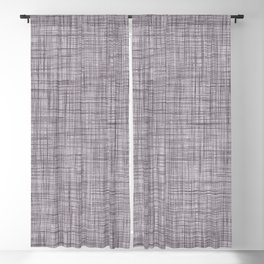 Cross Weave Line Pattern Dark Lavender Purple Blackout Curtain