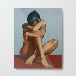 Beautiful And Sexy Nude Unrecognizable Girl Adult Erotic Art Metal Print