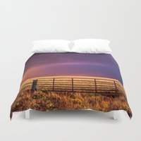 western Duvet Covers featuring Western Front by Sean Ramsey