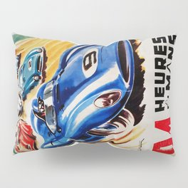 Le Mans poster, 1956, race poster, t shirt Pillow Sham