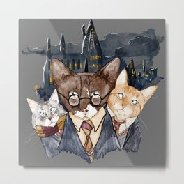 Winky Potter and Friends Metal Print