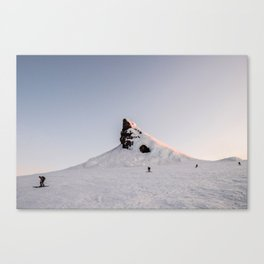 Four Skiers Canvas Print