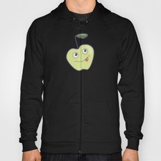 Smiling Green Cartoon Apple Hoody