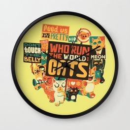Who Run The World Cats Wall Clock