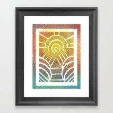 Drawing Meditation: Stencil 2 - Print 2 Framed Art Print