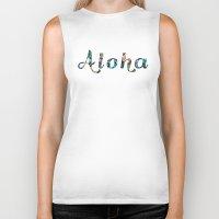 aloha Biker Tanks featuring Aloha! by withnopants