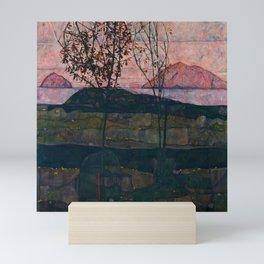 "Egon Schiele ""Setting Sun"" Mini Art Print"