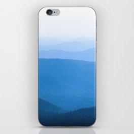 Blue Smoky Mountains iPhone Skin