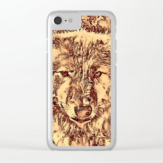 Animal ArtStudio - amazing Wolf Clear iPhone Case
