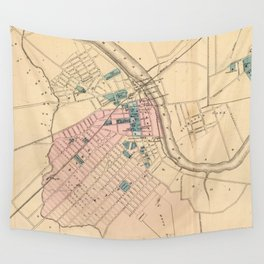 Vintage Map of New Brunswick NJ (1872) Wall Tapestry