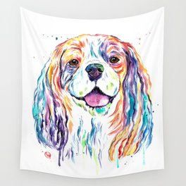 Cavalier King Charles Spaniel - Colorful Watercolor Painting Wall Tapestry