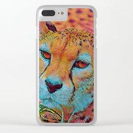 Popular Animals - Cheetah Clear iPhone Case