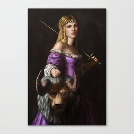 The Princess with the head of a lyne Canvas Print
