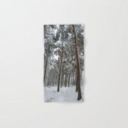 Snowy woodland Hand & Bath Towel