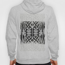 Black and white Siapo (tapa) Hoody