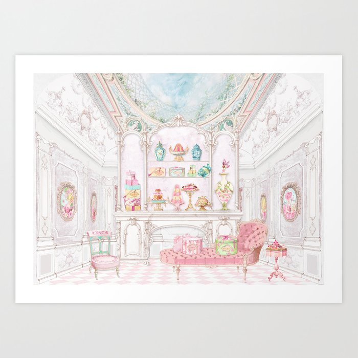 French Patisserie  Art Print