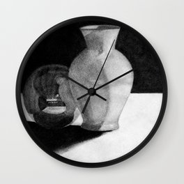 Vase with Sphere Wall Clock