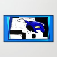 audi Canvas Prints featuring Day the Paint Ran Out by elkart51