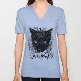 Bad Black Cat Unisex V-Neck
