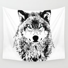 Wolf Eyes Wall Tapestry