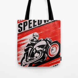Speedway Vintage poster Tote Bag