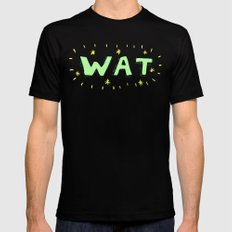 WAT Black MEDIUM Mens Fitted Tee
