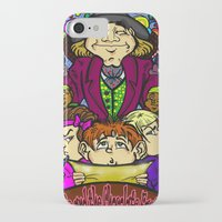 willy wonka iPhone & iPod Cases featuring Willy Wonka by Carol Wellart