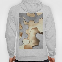 Abstract with the gears Hoody