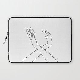 Dancing minimal line drawing Laptop Sleeve