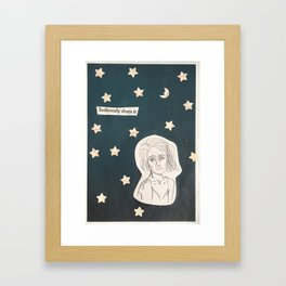 tediously does it Framed Art Print