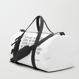 Never Doubt - Hillary Clinton Quote Duffle Bag