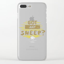 Got any sheep? Gift Clear iPhone Case