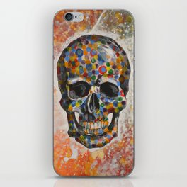 Abstract modern art painting ... Skull iPhone Skin