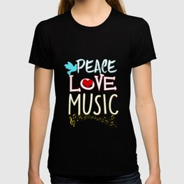 Peace Love Music Hippie Hipster Festival T-shirt