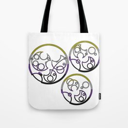 Circular Gallifreyan: Not a boy. Not a girl. Not your problem! Tote Bag
