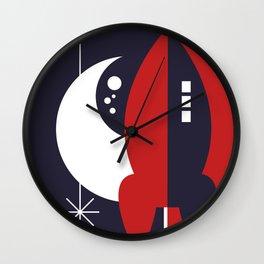 Space in Retro  Wall Clock
